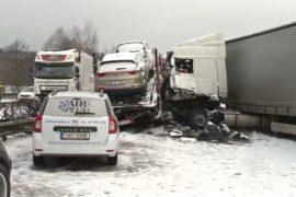 Массовое ДТП в Чехии: столкнулись более 40 машин