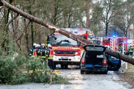 Ураганный ветер: трое погибших в Нидерландах, и трое — в Германии