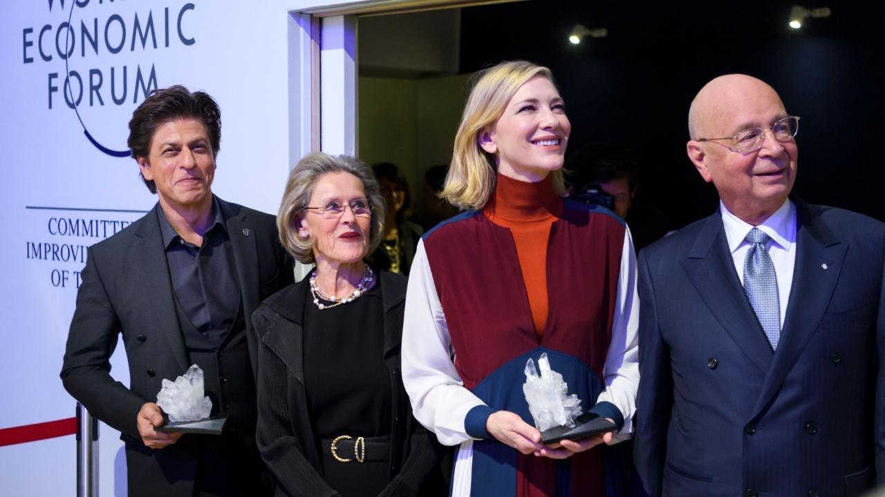 В Давосе наградили Кейт Бланшетт, Шахруха Хана и Элтона Джона