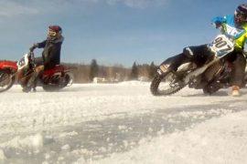 Гонки на мотоциклах по замёрзшим озёрам: холодное развлечение в штате Нью-Йорк