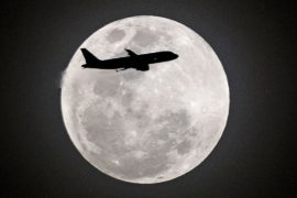 Редкое лунное затмение наблюдали жители планеты
