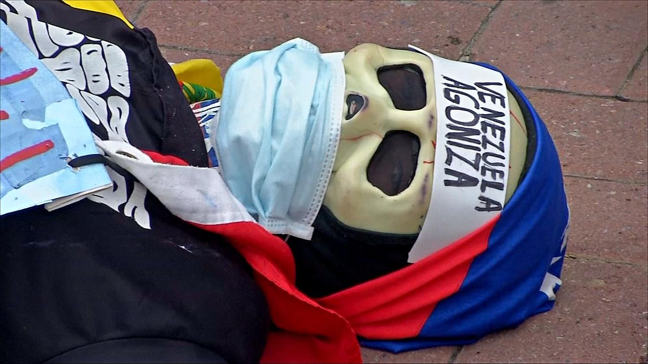 Венесуэльцы протестуют против нехватки лекарств