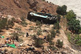 В Перу ещё один автобус упал в пропасть