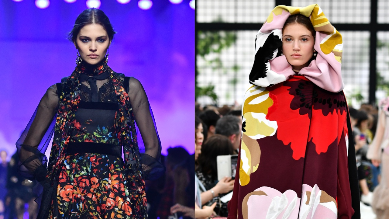 PFW: викторианская элегантность от Эли Сааба и яркие краски от Valentino