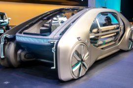 Футуристические такси и мощные электрокары на автосалоне в Женеве