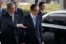 Допрос в прокуратуре: экс-президента Южной Кореи обвиняют в коррупции