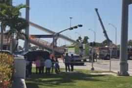 Рухнувший в Майами мост раздавил восемь автомобилей