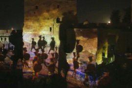 На стенах в Иерусалиме светом и звуком показали времена царя Давида