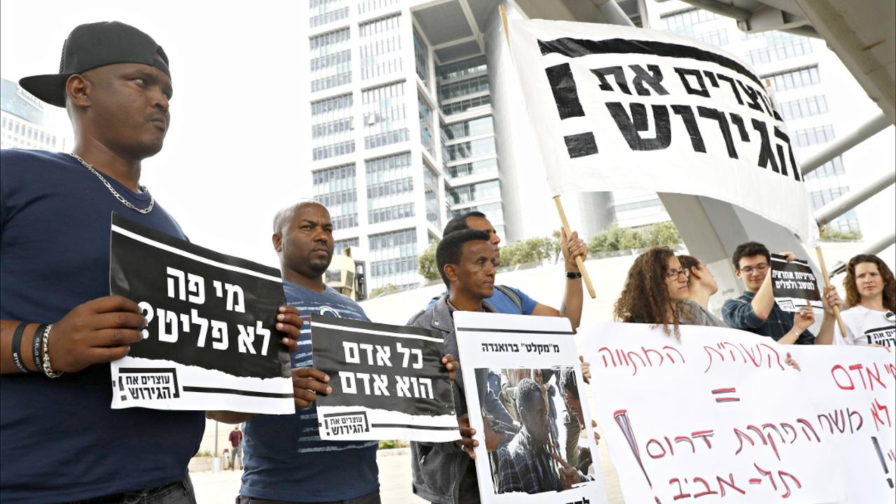Протест в Иерусалиме: мигранты и активисты вышли к офису Нетаньяху