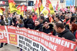 Масштабная забастовка во Франции: профсоюзы намерены стоять до конца