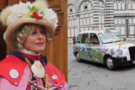 Красочное такси для больных раком: итальянка скрашивает будни пациентов