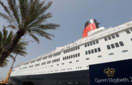 Роскошный лайнер «Куин Элизабет 2» стал плавучим отелем в Дубае