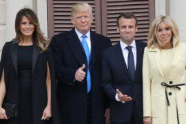 Первый государственный визит: Трамп принимает Макрона