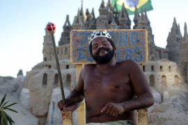 Как живёт король песочного замка в Рио-де-Жанейро