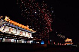 1374 дрона устроили световое шоу в Китае и попали в Книгу Гиннесса