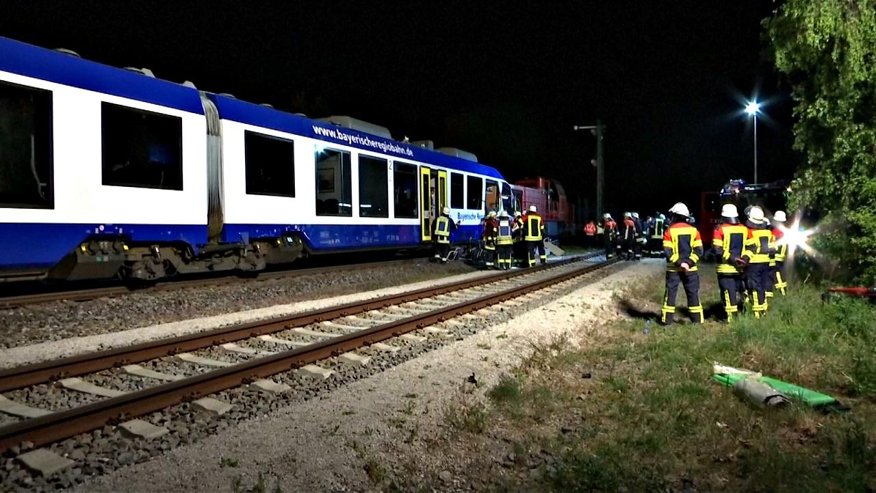 Крушение поездов в Германии: два человека погибли