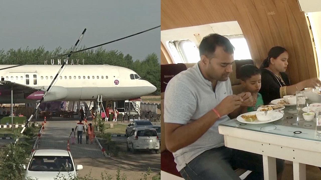Индийцы пробуют «высший свет» на вкус на борту самолёта-ресторана