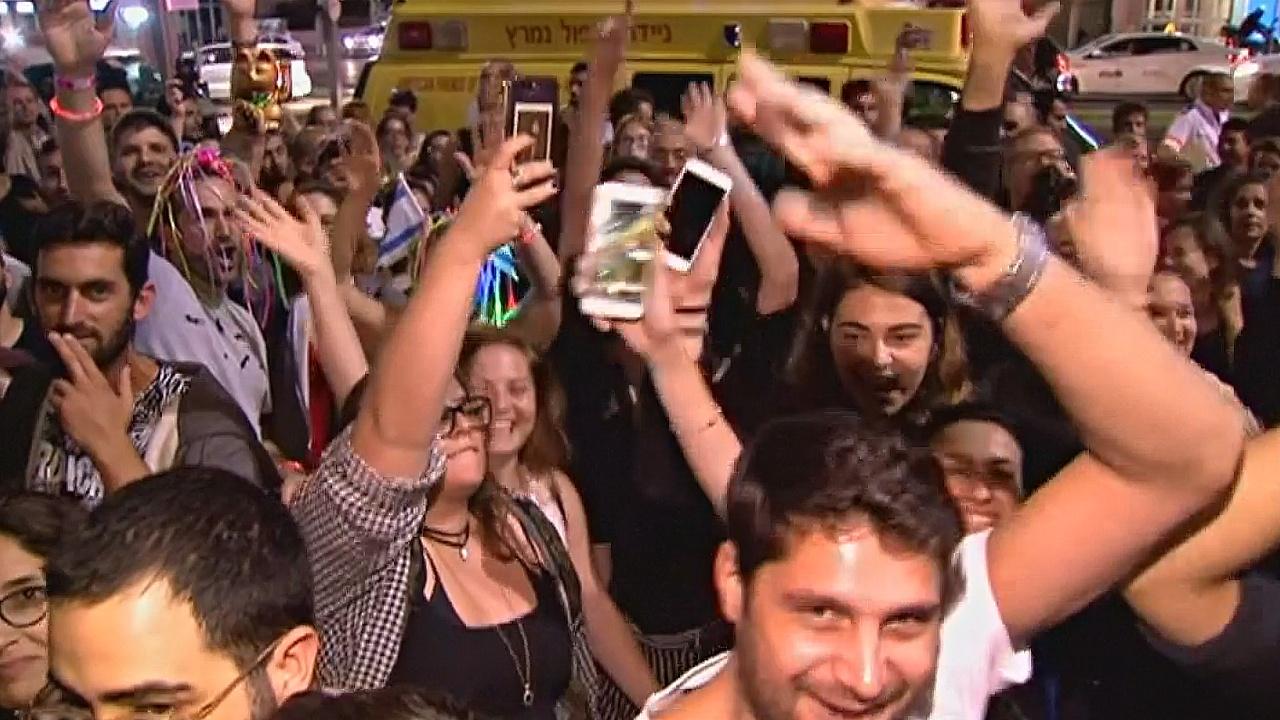 Тель-Авив ликует после победы израильтянки в «Евровидении»
