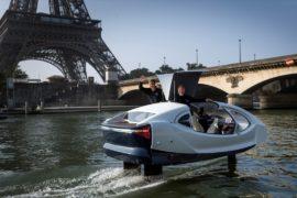 «Летающее» водное такси SeaBubbles продемонстрировали на Сене