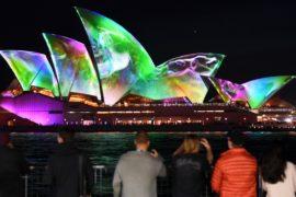 «Яркий Сидней»: австралийский фестиваль света отмечает юбилей
