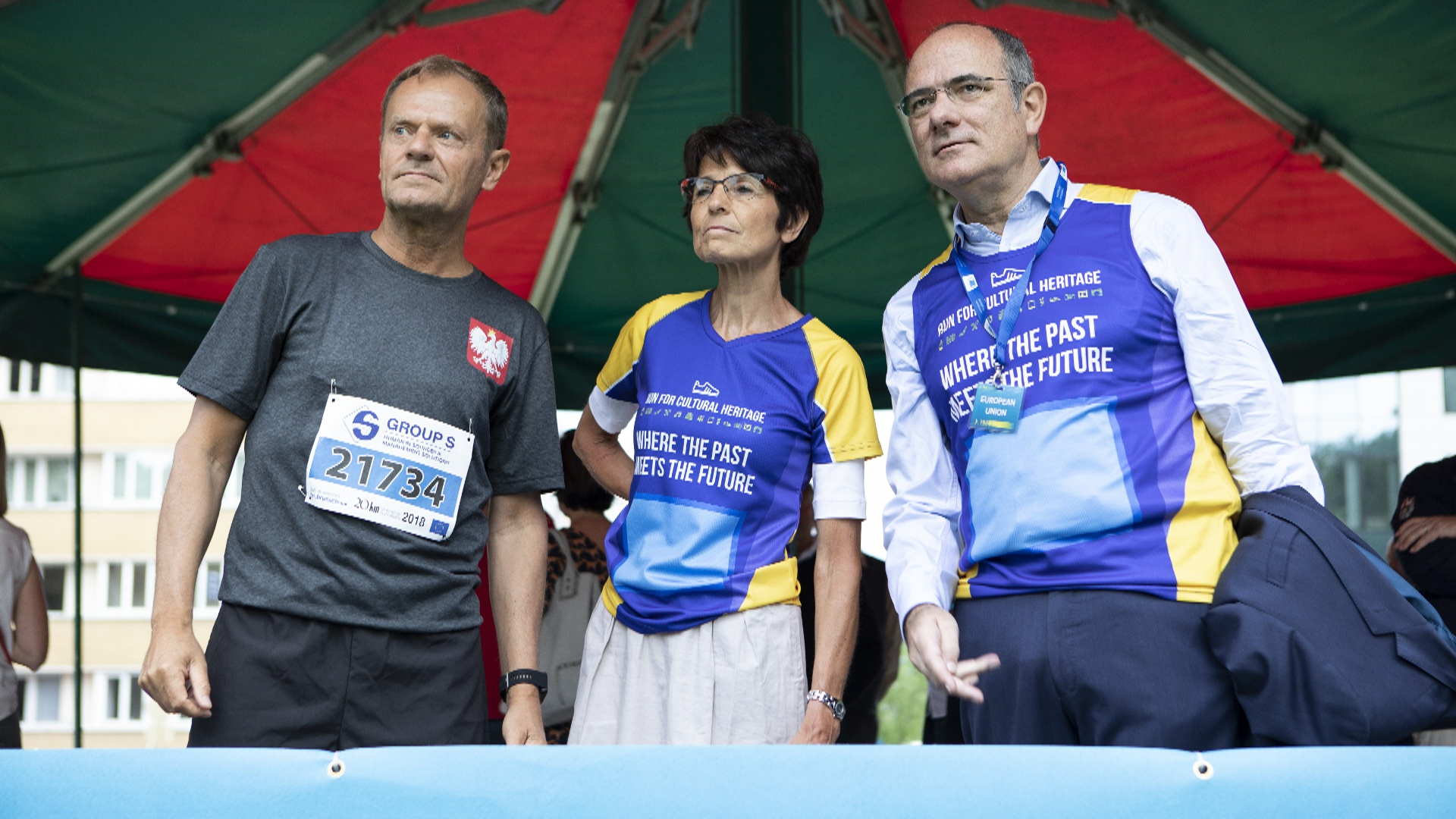 Председатель Евросовета Дональд Туск поучаствовал в полумарафоне