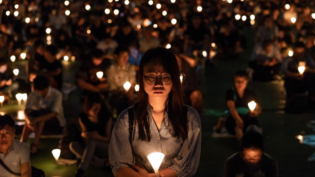 В Гонконге почтили память погибших в бойне на площади Тяньаньмэнь