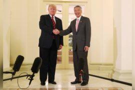 Дональд Трамп встречается с чиновниками в преддверии саммита с Кимом