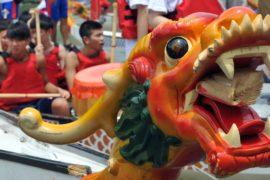 Древний праздник лодок-драконов отметили в Тайбэе