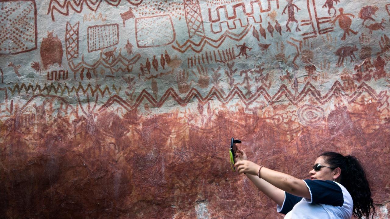 Колумбийский парк с древними наскальными рисунками включили в список ЮНЕСКО