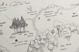 Карту Стоакрового леса из книги о Винни-Пухе продадут на аукционе