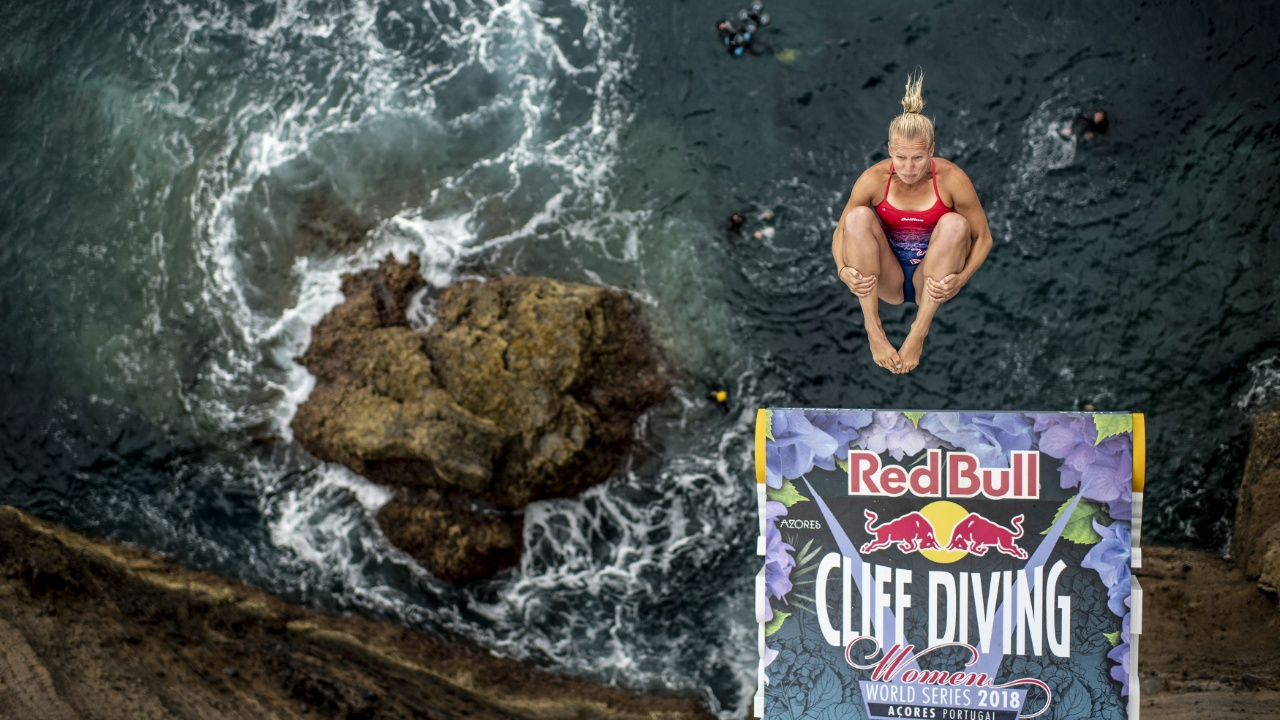 На живописном португальском острове прошёл этап чемпионата по клифф-дайвингу