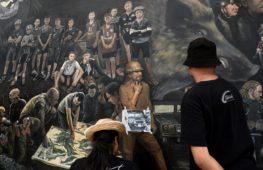 В честь спасения тайских мальчиков написали 13-метровую картину