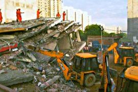В Индии рухнула шестиэтажка, есть жертвы