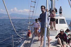 Учёные-любители учатся наблюдать за китами в итальянском морском заповеднике