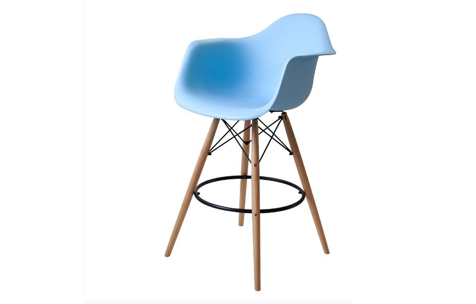 Барный стул с подлокотниками Eames DAW bar style