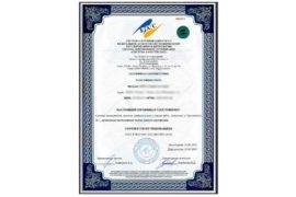 Международный сертификат ИСО