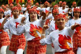 65 тысяч индонезийцев станцевали почо-почо в центре Джакарты