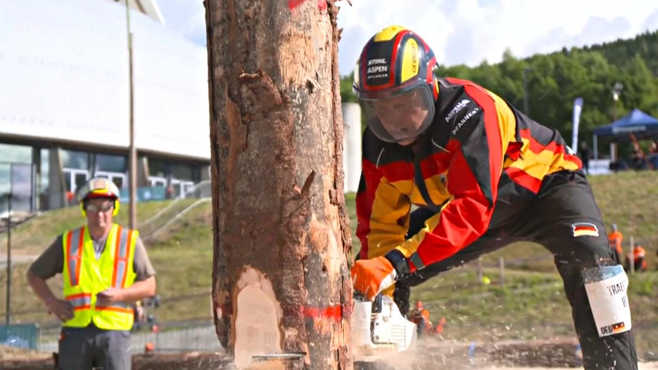 Чемпионат лесорубов прошёл в Норвегии