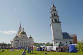 Русская «пизанская башня» празднует день рождения
