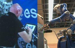 Немецкий астронавт с орбиты управлял роботом, который был на Земле