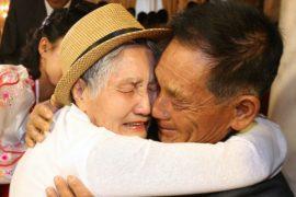 Разделённые Корейской войной семьи встретились впервые за три года