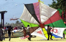 3000 воздушных змеев запустили на фестивале на Шри-Ланке