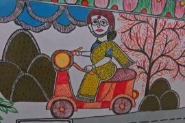 В Индии поезда раскрасили традиционными рисунками мадхубани