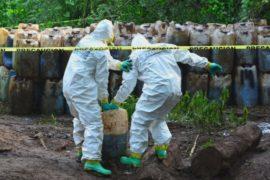 Лабораторию по производству метамфетамина нашли на границе Мексики и США