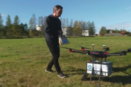 Сервис доставки еды дронами охватил половину Рейкьявика