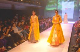Свадьба в сезон дождей на Неделе моды в Индии