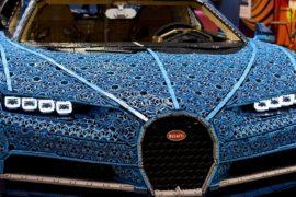 Bugatti Chiron из миллиона деталей Lego показали на Парижском автосалоне