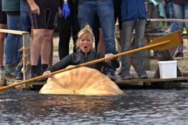 Гонки на тыквах: весёлые соревнования в Германии