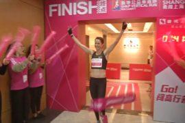 Вертикальный забег в Шанхае: победили поляк и австралийка