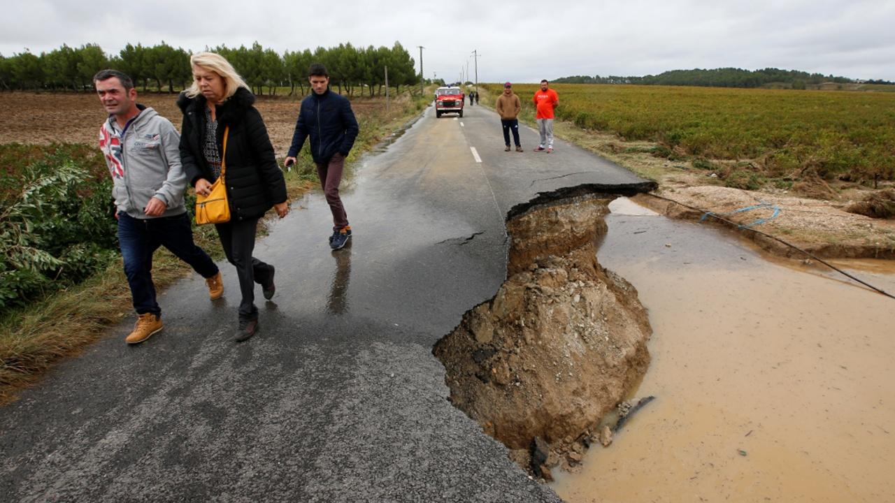 Наводнения во Франции: семимесячная норма осадков за сутки